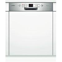 Bosch SMI58L75EU beépíthető inox kezelőpaneles mosogatógép