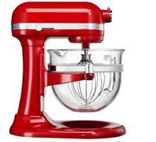 Kitchenaid professzionális robotgép üvegtállal piros