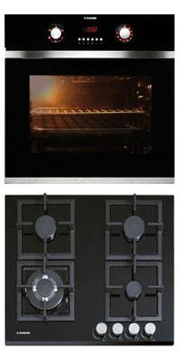 Nodor D 700 DT AC BK + GCS 316 beépíthető sütő + gáz főzőlap szett