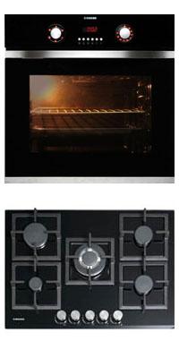 Nodor D 700 DT AC BK + GCS 417 önállóan beépíthető sütő + gázfőzőlap szett