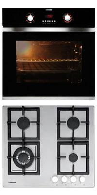 Nodor D 700 DT AC BK + GXS 316 beépíthető sütő + gázfőzőlap szett