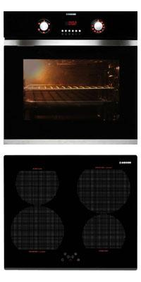 Nodor D 700 DT AC BK + IB 46 BK önállóan beépíthető sütő + indukciós főzőlap szett