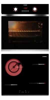 Nodor D 700 DT AC BK + R 46 B önállóan beépíthető sütő + kerámia főzőlap szett