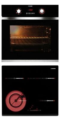 Nodor D 700 DT AC BK +  RDOS 46 B önállóan beépíthető sütő + kerámia főzőlap szett
