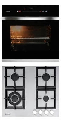 Nodor D 900 TCS BK + GXS 316 önállóan beépíthető sütő + gázfőzőlap szett