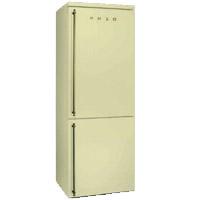 SMEG FA8003PO szabadonálló rusztikus kombinált hűtőszekrény bézs