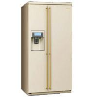 SMEG SBS8004PO szabadonálló side by side hűtőszekrény bézs