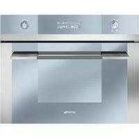 SMEG SC45VC2 beépíthető kompakt sütő-gőzpároló-grill ezüst üveg/inox