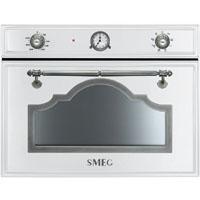 SMEG SF4750MBS rusztikus beépíthető mikrohullámú sütő fehér
