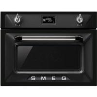 SMEG SF4920MCN rusztikus beépíthető mikrohullámú sütő fekete