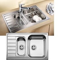 Blanco Livit 6S Compact rozsdamentes acél mosogatótál