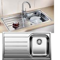 Blanco Median 45S-IF rozsdamentes acél mosogatótál
