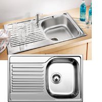 Blanco TIPO 45S COMPACT C rozsdamentes acél mosogatótál