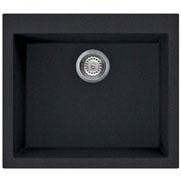 Livinox QUADRA 105 Granitek fekete silgránit egymedencés mosogatótál